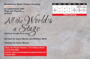 Back Postcard All The World's A Stage revised and final